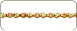 Black Hills Gold Diamond Bracelet with Leaves (SKU: 07246X-3)