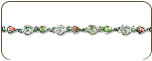 Sterling Silver Bracelet with Hearts and Black Hills Gold Leaves (SKU: 07280SS)