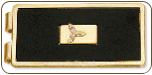Black Hills Gold Money Clip, Black Enamel with Gold Leaves Inset (SKU: 09220)