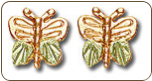 Black Hills Gold Butterfly Earrings (SKU: A172P)