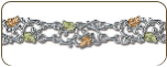 Sterling Silver Bracelet with Black Hills Gold Leaves (SKU: BR3003SS)