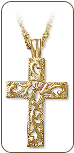 Black Hills Gold Cross Pendant (SKU: CR657)