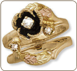 M. Ladies Black Hills Gold Wedding Set with Engagement Ring (SKU: D2060SD)