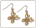 Black Hills Gold Butterfly Earrings (SKU: ER1023)