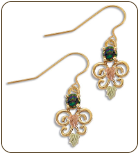 Mystic Fire Topaz Earrings, in Black Hills Gold (SKU: ER1938-471)