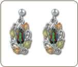 Mystic Fire Topaz Earrings, in Sterling Black Hills Silver (SKU: ER483PDSS-471)