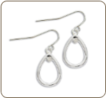 AA. Sterling Silver Diamond Earrings (SKU: ER5000XSS)