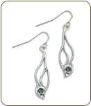 Sterling Silver Earrings with Green Montana Sapphire (SKU: ER5102SS-933)