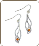 Sterling Silver Earrings with Yellow Montana Sapphire (SKU: ER5102SS-935)
