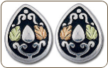 Sterling Silver Western Earrings with Black Hills Gold Leaves (SKU: ER831PSS)