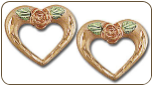 Black Hills Gold Mothers Pink Gold Heart Earrings (SKU: ER850P)
