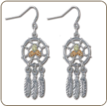Sterling Silver Dreamcatcher Earrings (SKU: ER866SS)