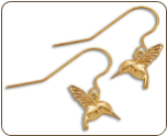 Black Hills Gold Hummingbird Earrings (SKU: ER878)