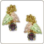 Mystic Fire Topaz Earrings, in Black Hills Gold (SKU: ER918)