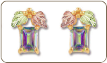 Mystic Fire Topaz Earrings, in Black Hills Gold (SKU: ER959)