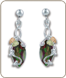 Mystic Fire Topaz Earrings, in Black Hills Silver (SKU: ER968PDSS-471)