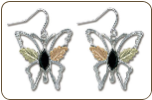 Black Hills Silver Butterfly Earrings (SKU: ER988SS)