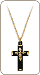 Black Hills Gold Cross Pendant (SKU: CR633-BLK)