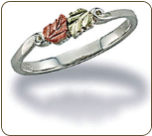 Black Hills Silver Childrens Ring with Leaves (SKU: LR2248SS)