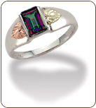 Ladies Mystic Fire Topaz Ring, in Sterling Black Hills Silver (SKU: LR3014SS-471)