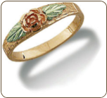 Black Hills Gold Daughters Ring with Rose and Leaves (SKU: LR3021)