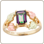 Ladies Mystic Fire Topaz Ring, Black Hills Gold (SKU: LR959)