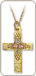 Black Hills Gold Cross Pendant (SKU: M605)