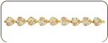 Black Hills Gold Bracelet with Leaves (SKU: P708)