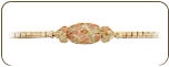 Black Hills Gold Bracelet with Leaves and Grapes (SKU: P710)