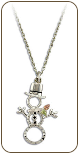 Sterling Silver Snowman Pendant with Black Hills Gold Leaves (SKU: PE1024SS)