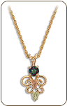 Mystic Fire Topaz Pendant, in Black Hills Gold (SKU: PE1938-471)
