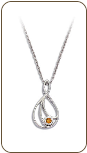 Sterling Silver Teardrop Pendant with Yellow Montana Sapphire (SKU: PE5101SS-935)