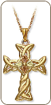 Black Hills Gold Cross Pendant (SKU: PE525)