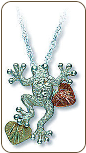 Sterling Silver Frog Pendant (SKU: PE529SS)