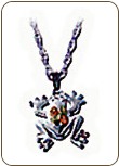 Sterling Silver Frog Pendant (SKU: PE609SS)
