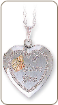"Sterling Silver Mothers ""I Love You"" Heart Locket (SKU: PE627SS)"
