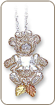 Sterling Black Hills Silver Bear Pendant, Girl (SKU: PE633SS)