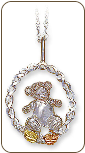 Sterling Black Hills Silver Bear Pendant, Boy (SKU: PE634SS)