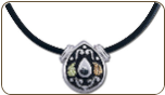 Sterling Silver Western Pendant with Black Hills Gold Leaves (SKU: PE831SS)