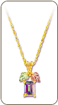 Mystic Fire Topaz Pendant, in Black Hills Gold (SKU: PE959)