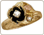 Ladies Black Hills Gold Diamond Engagement Ring (SKU: D2060AD)