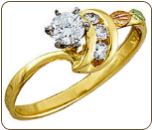 Ladies Black Hills Gold Diamond Engagement Ring (SKU: WR841AD)
