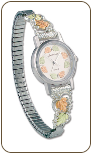 Landstroms Ladies Gold on Sterling Silver Watch and Band (SKU: 09286B-SS-09250-SS)