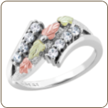 Landstroms Ladies Black Hills Silver Ring with Cubic Zirconia (SKU: MRLLR3082-101)