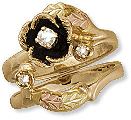 landstroms black hills gold wedding set with engagement ring d2060sd
