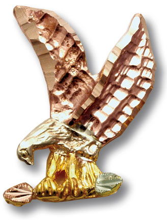 Black Hills Gold eagle pin