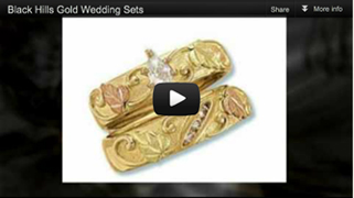 Black Hills Gold Wedding Sets video