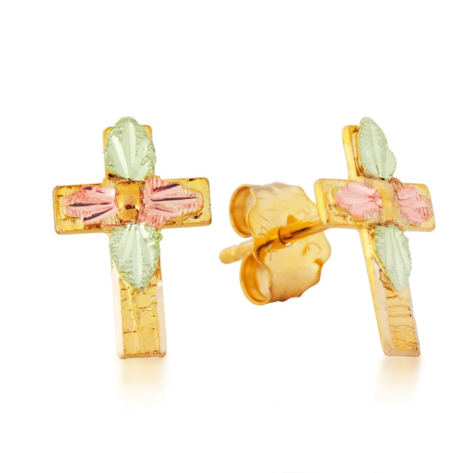 Landstroms A118P Cross Earrings