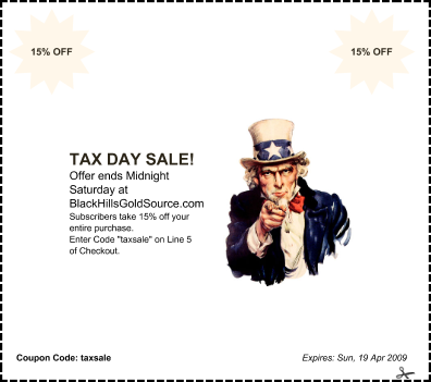 Special 3 Day Sale!