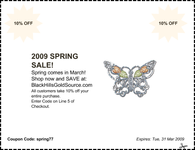 Spring Sale Coupon